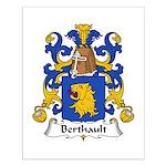 Berthault Family Crest  Small Poster