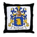 Berthault Family Crest  Throw Pillow