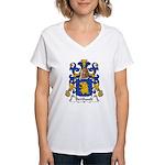 Berthault Family Crest  Women's V-Neck T-Shirt