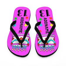 Pretty Pink 13th Flip Flops