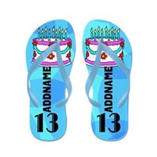 Pretty Blue 13th Flip Flops