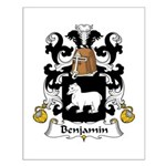 Benjamin Family Crest Small Poster