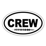 Crew Eight Oval Bumper Stickers