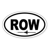 Row Scull Oval Bumper Stickers