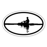 Sculler Oval Bumper Stickers