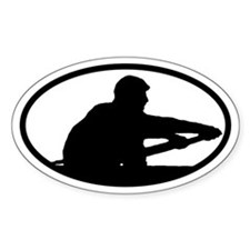 Crew Rower Oval Decal
