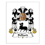 Belliard Family Crest  Small Poster