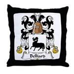 Belliard Family Crest  Throw Pillow