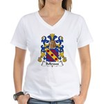 Bellevaux Family Crest Women's V-Neck T-Shirt