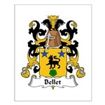 Bellet Family Crest Small Poster