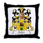 Bellet Family Crest Throw Pillow