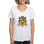 Bellet Family Crest Women's V-Neck T-Shirt