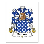 Becquet Family Crest Small Poster