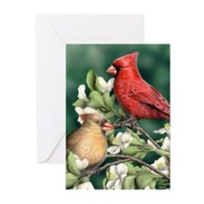 Wild Cardinals Greeting Cards (Pk of 10)
