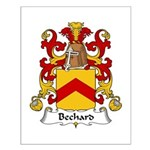 Bechard Family Crest Small Poster