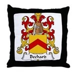 Bechard Family Crest Throw Pillow