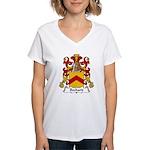 Bechard Family Crest Women's V-Neck T-Shirt
