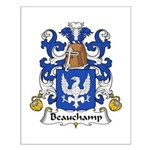 Beauchamp Family Crest Small Poster