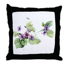 SOFT VIOLETS Throw Pillow