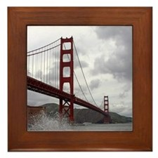 Golden Gate from Fort Point Framed Tile