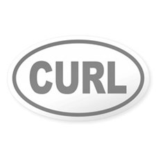 Basic Curling Oval Decal