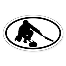 Curling Oval Decal