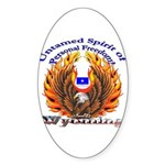 S.I. Untamed Spirit on vertical Oval Sticker