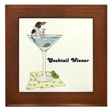 Piebald Cocktail Wiener Framed Tile