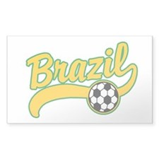 Brazil Soccer Rectangle Decal