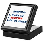 AGENDA TO SURVIVE Keepsake Box