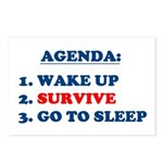 AGENDA TO SURVIVE Postcards (Package of 8)