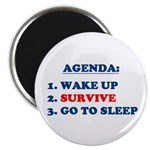 AGENDA TO SURVIVE Magnet