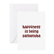 happiness is being Samantha Greeting Cards (Pk of