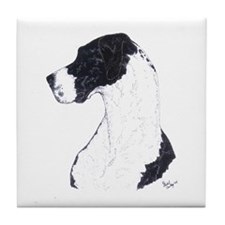 Nat Profile Mantle Great Dane in dots Tile Coaster