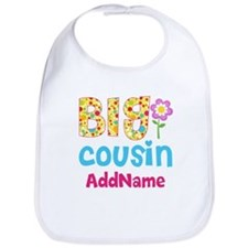 Big Cousin Floral Dots Personalized Bib