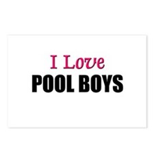 I Love POOL BOYS Postcards (Package of 8)