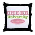 Cheer U School Spirit Cheerleader Throw Pillow