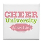 Cheer U School Spirit Cheerleading Tile Coaster