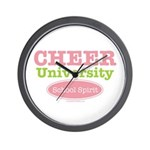 Cheer U School Spirit Cheerleader Wall Clock