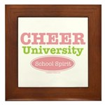 Cheer U School Spirit Cheerleader Framed Tile