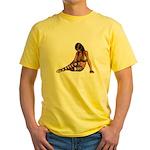 Sexy.Emo.Girl2 Yellow T-Shirt