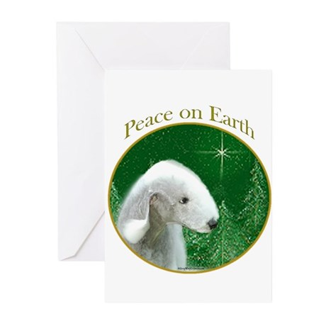 Bedlington Peace Greeting Cards (Pk of 10)