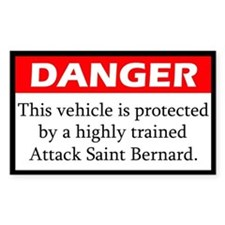 Attack Saint Bernard Stickers