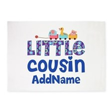 Personalized Little Cousin 5'x7'Area Rug