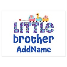 Personalized Little Brother 5x7 Flat Cards