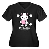 Poodle Power Women's Plus Size V-Neck Dark T-Shirt