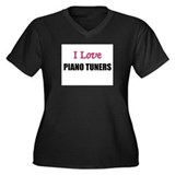 I Love PIANO TUNERS Women's Plus Size V-Neck Dark