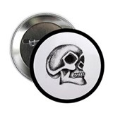 Skull Art Button