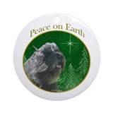Bouvier Peace Ornament (Round)