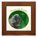 Bouvier Peace Framed Tile